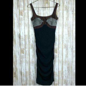 Nicole Miller Collection Black Bodycon Dress 2